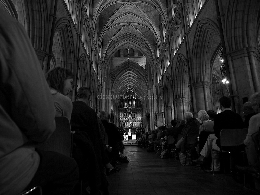 The Archbishop of Canterbury, Rowan Williams giving a lecture on climate change at Southwark Cathedral ahead of the 2009 United Nations Climate Change Conference in Copenhagen, London. , London..OLYMPUS DIGITAL CAMERA