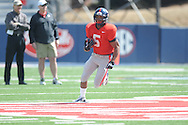 I'Tavius Mathers runs at Ole Miss football scrimmage at Vaught-Hemingway Stadium in Oxford, Miss. on Saturday, April 6, 2013.