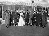 1954 McCabe Quinn Wedding at St. John's Clontarf