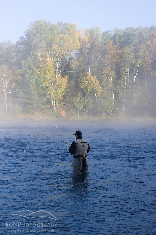 Fly-fishing near Moosehead Lake Maine USA (MR)