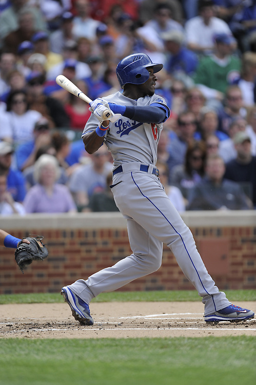 CHICAGO - MAY 30:  Orlando Hudson #13 of the Los Angeles Dodgers bats against the Chicago Cubs on May 30, 2009 at Wrigley Field in Chicago, Illinois.  The Cubs defeated the Dodgers 7-0.  (Photo by Ron Vesely)