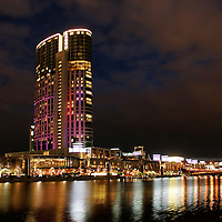 Crown Casino Melbourne at night.<br /> <br /> Larger JPEG + TIFF images available by contacting use through our contact page at :..www.photography4business.com