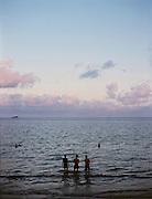 Evening at the town beach near Pier 914.