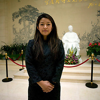 """BEIJING, OCT.2010 : """"Jingzi"""" poses in the estate of Mme Song Qing-Ling in Beijing."""