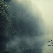 Morning fog on river Wupper / Germany - textured photograph<br /> Society6 products: https://society6.com/product/ghost-breath_print#1=45<br /> Redbubble products: http://www.redbubble.com/people/dyrkwyst/works/18984481-ghost-breath?ref=recent-owner