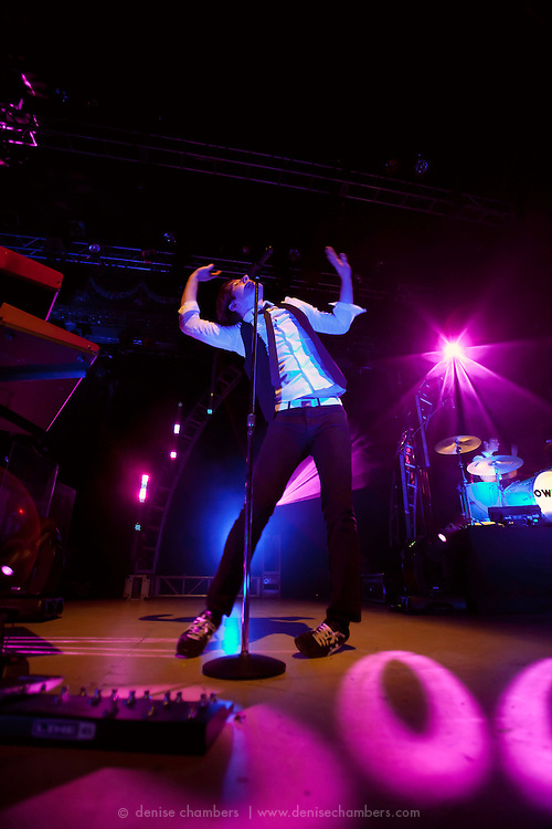 Owl City performs at the Ogden Theater in Denver, Colorado.  13 April 2010.
