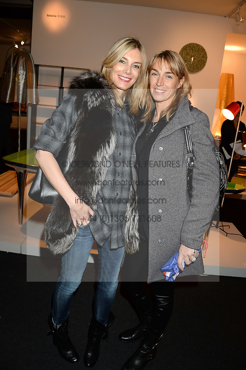 Left to right, KIM HERSOV and ASSIA WEBSTER at the PAD Art and Design Fair 2013 Collectors Preview in Berkeley Square, London on 14th October 2013.