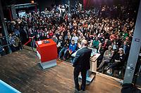 22 MAR 2017, BERLIN/GERMANY:<br /> Martin Schulz, SPD Parteivorsitzender und Spitzenkandidat der SPD zur Bundestagswahl, haelt eine Rede auf dem Neumitgliedertreffen der Berliner SPD, Festsaal Kreuzberg<br /> IMAGE: 20170322-02-120<br /> KEYWORDS: Martin Schulz, speech, Kanzlerkandidat, candidate