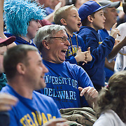 12/30/11 Newark DE: Delaware fans enjoying the game in the stands while watch a NCAA basketball game against Temple Friday, Dec. 30, 2011 at the Bob carpenter center in Newark Delaware...RahlirJefferson-Hollis led the Owls with 13 points and eight rebounds, Anthony Lee added a career-high 12 points, seven rebounds, and three blocks, Juan Fernandez contributed 11 points, and Ramone Moore chipped in with 10 points and a game-high six assists.