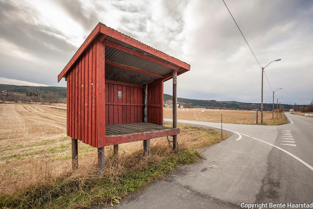 Hoem melkerampe. Bygd ca. 1960, fredet av Riksantikvaren i 2009. Selbu i Sør-Trøndelag.