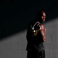 6/12/12 6:27:08 PM -- Bradenton, FL. -- Olympian LaShawn Merritt, who competes in the 400 meters, poses for a portrait at the IMG Performance Institute in Bradenton, Florida. ...Photo by Chip J Litherland, Freelance.
