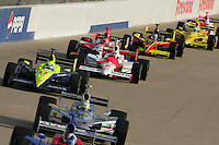 Vitor Meira races at the Nashville Superspeedway, Firestone Indy 200, July 16, 2005