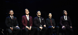 Collabro (Richard Hadfield, Jamie Lambert, Michael Auger, Tom Redgrave and Matt Pagan) perform at The Royal Albert Hall, Kensington Gore, London on Saturday 26 March 2016 following the release of their second Album Act Two.<br /> <br /> Collabro were the winners of the eight series of Britains Got Talent on 7.6.2014