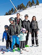 10-2-2015 VILLARS - Prince Joachim, Princess Marie, Prince Nikolai, Prince Felix, Prince Henrik and Princess Athena of Denmark pose for the media during their wintersport holiday at the Col de Bretaye in Villars sur Ollon, Switzerland COPYRIGHT ROBIN UTRECHT<br /> 2015/10/02 VILLARS - Prins Joachim, prinses Marie, Prins Nikolai, prins Felix, prins Henrik en Athena van Denemarken poseren voor de media tijdens hun wintersport vakantie naar de Col de Bretaye in Villars sur Ollon, Zwitserland COPYRIGHT ROBIN UTRECHT