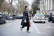 Black Leather Trench and Heels, Outside Ellery FW2017