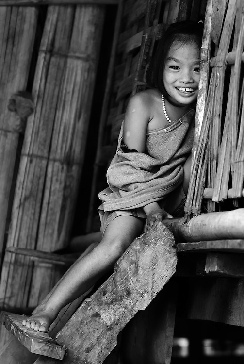 A Khamu girl in a village near Luang Prabang, Laos.