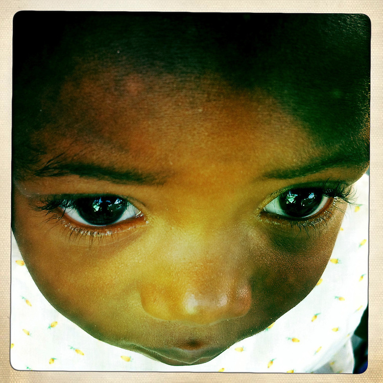 A baby at the Corail camp on Wednesday, April 4, 2012 in Port-au-Prince, Haiti.