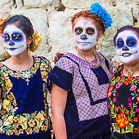 OAXACA , MEXICO - NOV 02 : Unidentified participants on a carnival of the Day of the Dead in Oaxaca, Mexico on November 02 2015. The Day of the Dead is one of the most popular holidays in Mexico