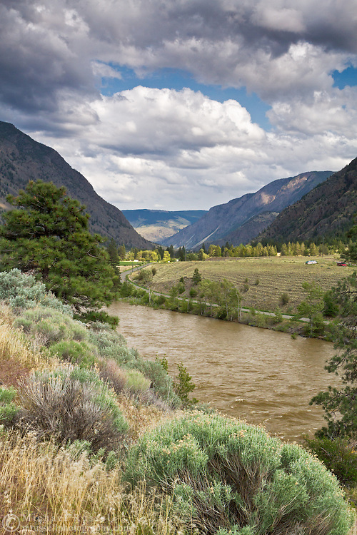 Spring runoff on the Similkameen River near Keremeos, British Columbia, Canada