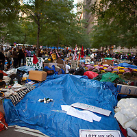 Zuccotti Park during the  Occupy Wall Street Protest in New York...Photo by Robert Caplin.