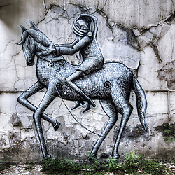 Phlegm - Horseman, Sheffield Street Art