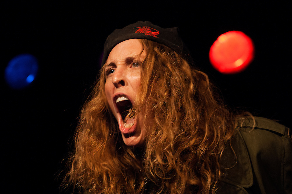 Peggy O'Leary as Sam Kinison - Schtick or Treat 2013 - Littlefield, Brooklyn - October 27, 2013