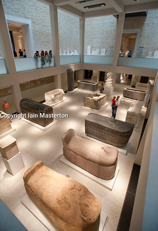 Egyptian gallery in newly renovated Neues Museum in Museumsinsel in Berlin Germany
