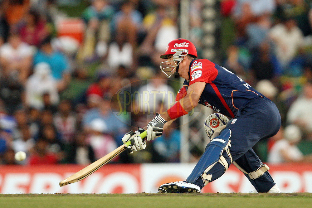 Kevin Pietersen during match 2 of the Karbonn Smart CLT20 South Africa between Delhi Daredevils and Kolkata Knight Riders held at Supersport Park Stadium in Centurion, South Africa on the 13th October 2012. Photo by Jacques Rossouw/SPORTZPICS/CLT20