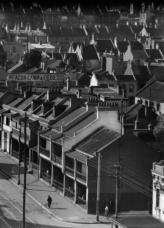 Over the Rooftops, Stanley Street, Sydney, Australia, 1930