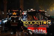 Curt Leduc's full size and mini RC trucks on display at the Big Air Bash