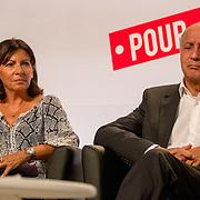 Laurent Fabius et Anne Hidalgo