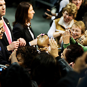 "Barack Obama holds a ""Stand Together for Change"" event during his campaign for President at Columbia Metropolitan Convention Center days before the South Carolina Democratic Primary on January 26, Newberry, South Carolina, January 20, 2008."