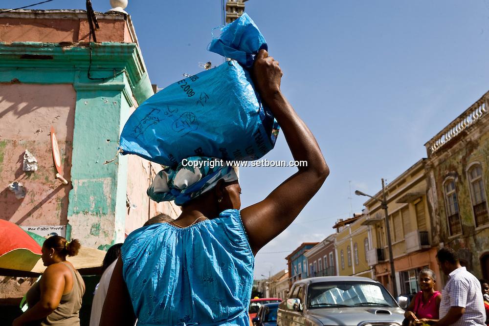 Cape Verde. central market in Praia  Praia island     / Cap-Vert:  le marche central de Praia  ile de Praia     /02