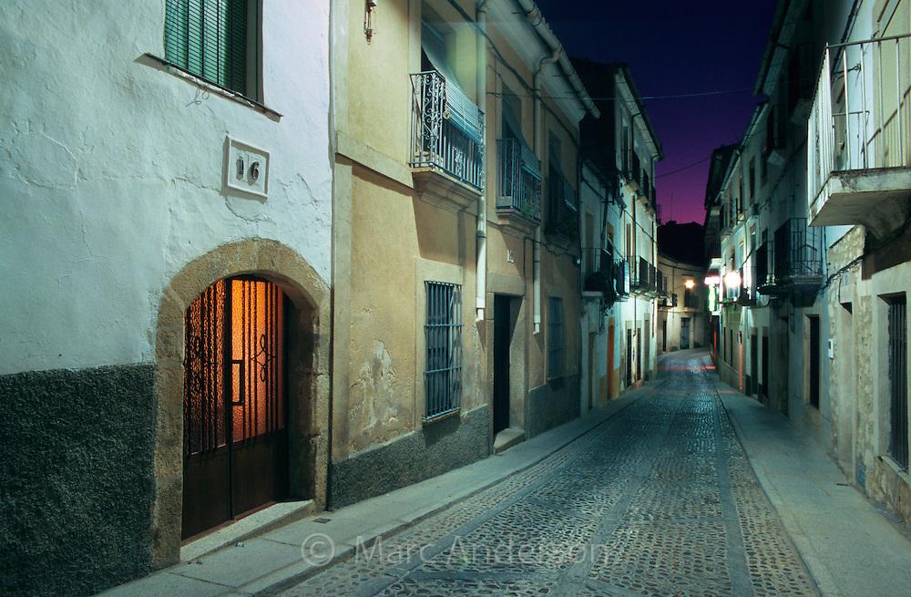 Quiet street in Trujillo, Extremadura, Spain