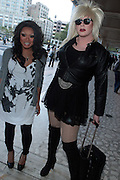 9 September 2010- New York, NY- l to r: Jujubee and Fenabarbital at the 2010 Mercedes-Benz Fashion Week held at the Lincoln Center's Damrosch Park, the new home for Fashion Week on September 9, 2010 in New York City. Photo Credit: Terrence Jennings