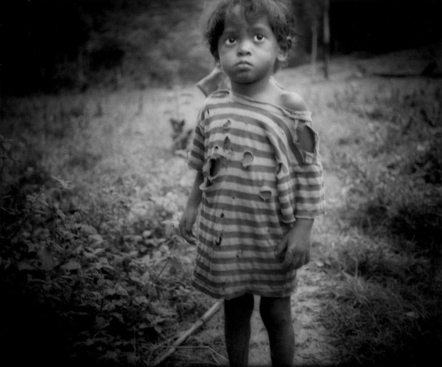 Agta Negrito child, Sawa, Sierra Madre Mountains.