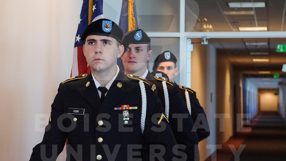 Veterans Day Ceremony, Stueckle Sky Center,  Photos by Ashley Alexander