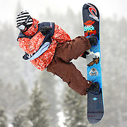 12/20/08 1:33:15 PM -- Breckenridge, CO, U.S.A. -- Snowboarder Steve Fisher of Breckenridge, Co. gets airborne high above the superpipe at the inaugural Winter Dew Tour in Breckenridge, Co. on December 20, 2008. The four-day competition is the first of three stops on the tour that features freeskiing and snowboarding..(Photo by Marc Piscotty / © 2008)