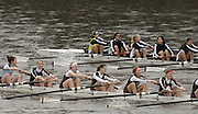Chiswick, London. ENGLAND, 09.03.2006,  St Peters JW 8+ [foreground] move along side, St Pauls Girls, as the crews race along Corney Reach, during the  Schools Head of the River Race Chiswick Bridge to Putney  on Thursday 9th March    © Peter Spurrier/Intersport-images.com.. Schools Head of the River Race. Rowing Course: River Thames, Championship course, Putney to Mortlake 4.25 Miles