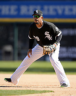 CHICAGO - APRIL 06:  Jose Abreu #79 of the Chicago White Sox fields against the Detroit Tigers on April 6, 2017 at Guaranteed Rate Field in Chicago, Illinois.  The White Sox defeated the Tigers 11-2.  (Photo by Ron Vesely)   Subject:  Jose Abreu