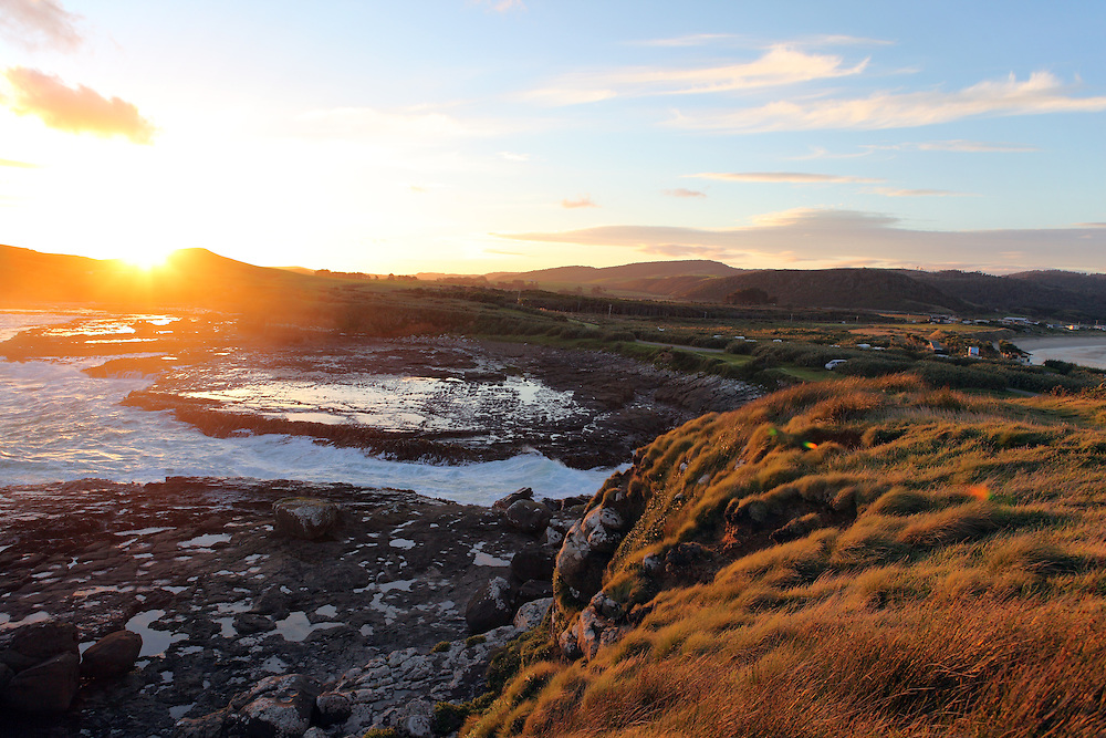 Sunset at Curio Bay in The Catlins, New Zealand