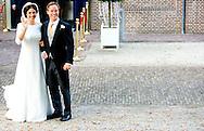 5-11-2013 APELDOORN – The marriage of prince Jaime de Bourbon de Parme and his wife Viktoria Cservenyak at the Maria church in Apeldoorn. COPYRIGHT ROBIN UTRECHT