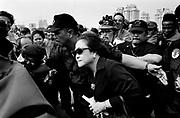 Megawati Sukarnoputri leaves a PDI-P Rally Jakarta June 1999 Elections