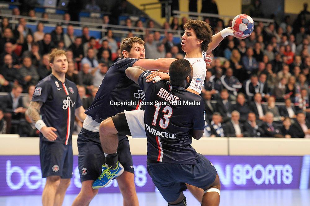 Diego Simonet / Jakov Gojun - 03.12.2014 - PSG / Montpellier - 12eme journee de D1<br />Photo : Andre Ferreira / Icon Sport