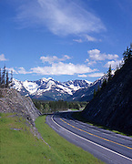 Alaska. Seward Highway, a scenic byway, empty of cars.