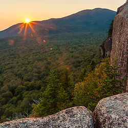 Sunset from Mount Pemigewasset in New Hampshire's White Mountains.