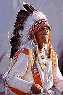 Blackfeet Holy Man, The late George Kicking woman in 1987,Blackfeet Indian reservation, Browning,Montana,USA
