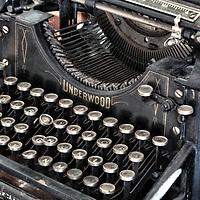 Underwood typewriter, Type No. 5.  Manufactured most likely around 1900 teens or twenties.