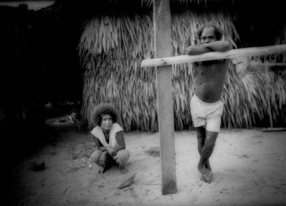 Dumagat Negrito family, Palaui Island, Philippines.