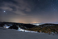 Balkan Mountains at night